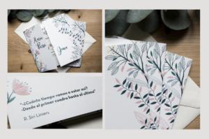 Invitacion boda floral