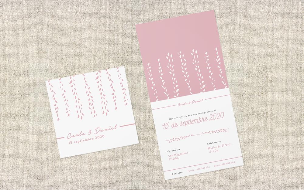 Invitación de boda colección clásica